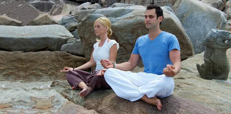 Betti meditating