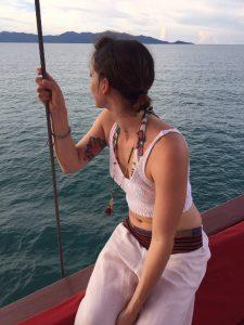 Letizia on the Boat
