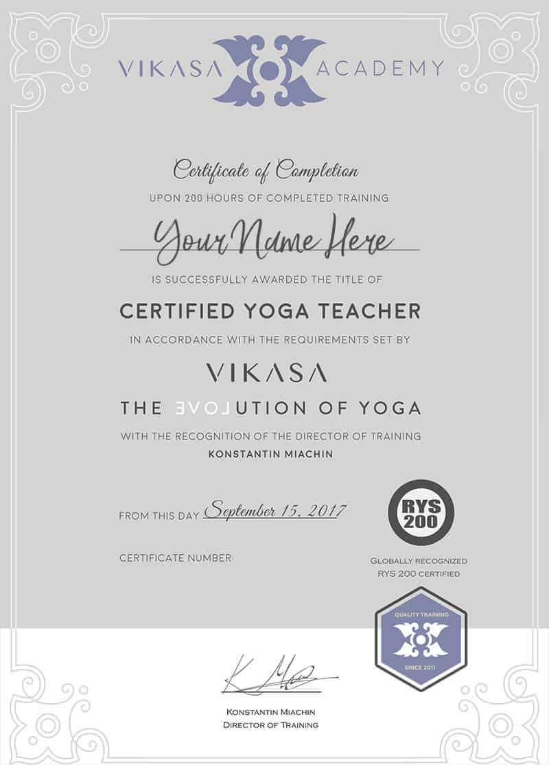Foundation Yoga Teacher Training Vikasa